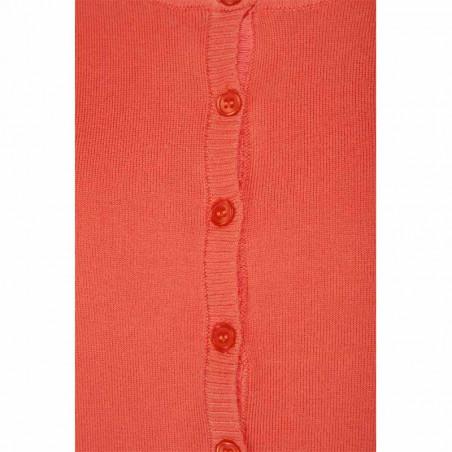 Minus Cardigan New Laura, Fiery Red minus tøj online detalje