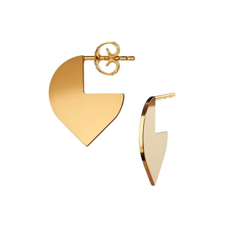 Scherning øreringe, cut, guld fra scherning på superlove