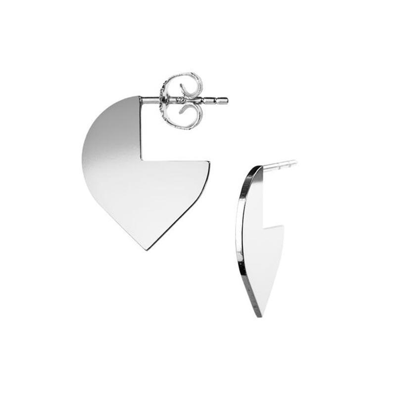 scherning Scherning øreringe, cut ørestikker, sølv fra superlove