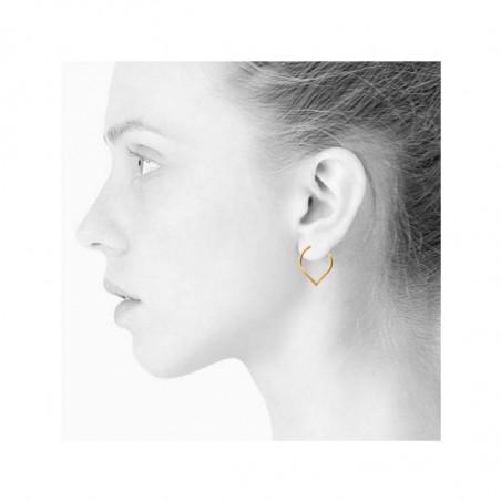 Scherning Øreringe, Lee Teardrop Stor, Gold, model, danske smykker, ørestikker guld, guld ørestikker