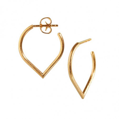 Scherning Øreringe forhandlere, Lee Teardrop Stor, Gold, danske smykker, ørestikker guld, guld ørestikker Scherning smykker