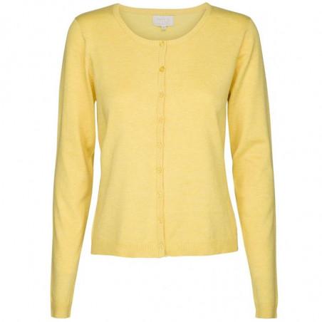 Minus Cardigan New Laura, Yellow Cream melange minus tøj online