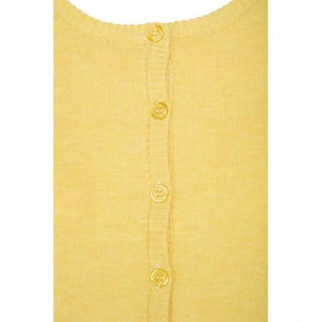Minus Cardigan, New Laura, Yellow Cream Melange Detalje