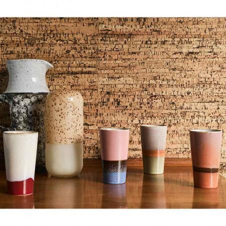 HK Living Krus, Ceramic 70's Latte, Sæt med 4 stk HK Living Danmark hk living dk hjem