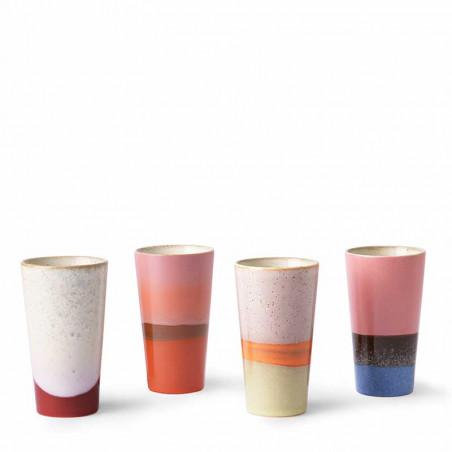 HK Living Krus, Ceramic 70's Latte, Sæt med 4 stk HK Living Danmark hk living dk på rad