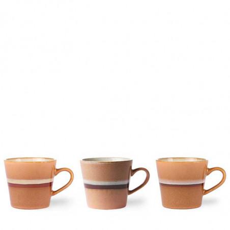 HK Living Krus, Ceramic 70's Cappuccino, Stream Varianter