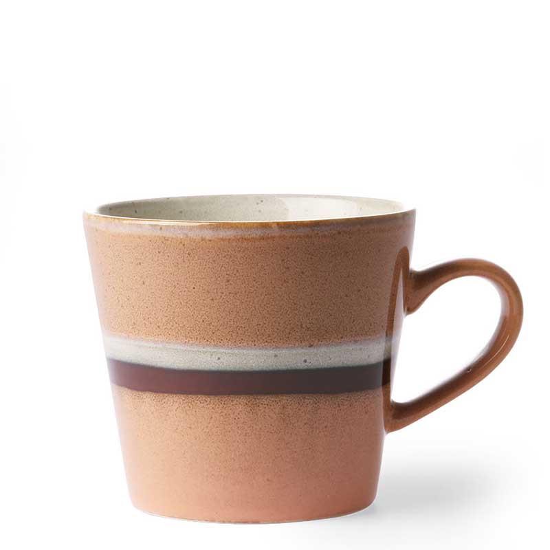 Hk living krus, ceramic 70's cappuccino, stream fra hk living fra superlove