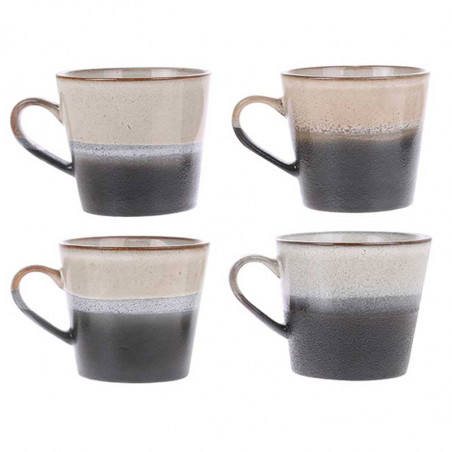 HK Living Krus, Ceramic 70's Cappuccino, Rock Varianter