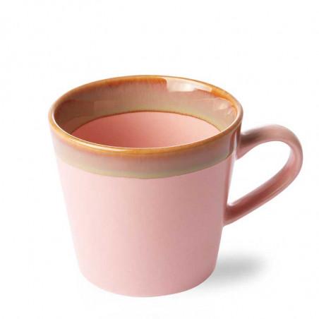 HK Living Krus, Ceramic 70's Cappuccino, Pink Kaffe krus