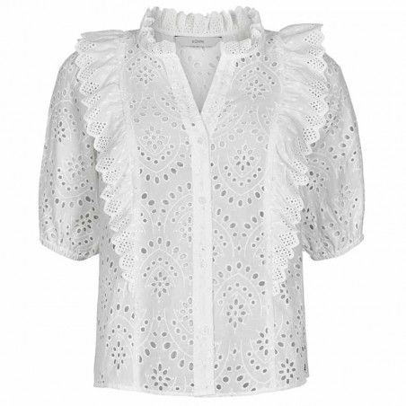 Nümph Bluse, Nublessing, B White Nümph shirt   Broderi Anglaise