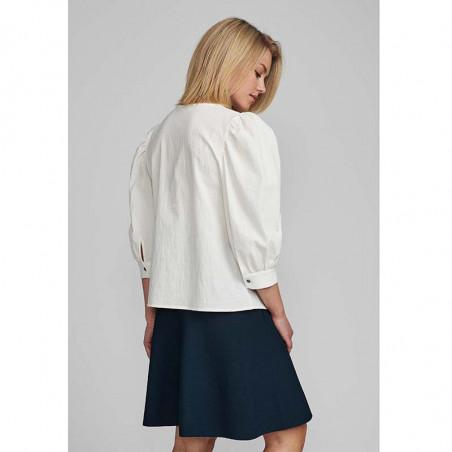 Nümph Bluse, Nubunny, B White numph bluse nümph skjorte numph skjorte på model bagfra