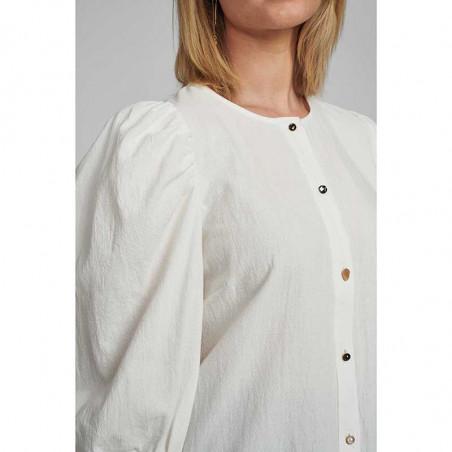 Nümph Bluse, Nubunny, B White numph bluse nümph skjorte numph skjorte detalje