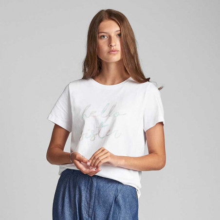 Nümph T-shirt, Nualcie, B. White numph t-shirt med print Nümph t shirt look