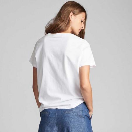 Nümph T-shirt, Nualcie, B. White numph t-shirt med print Nümph t shirt look bagfra