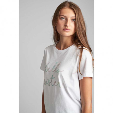 Nümph T-shirt, Nualcie, B. White numph t-shirt med print på model