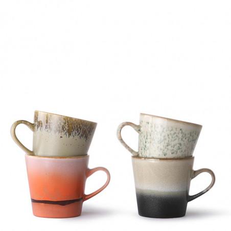 HK Living Krus, Ceramic 70'er Americano, Sæt med 4 stk HK Living Danmark hk living dk