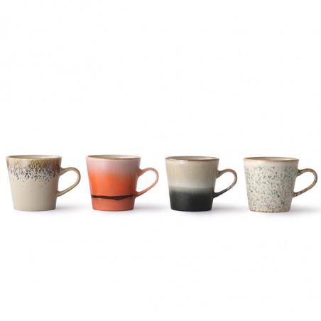 HK Living Krus, Ceramic 70'er Americano, Sæt med 4 stk HK Living Danmark hk living dk - på rad