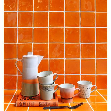 HK Living Krus, Ceramic 70'er Americano, Sæt med 4 stk HK Living Danmark hk living dk - med hk living kande
