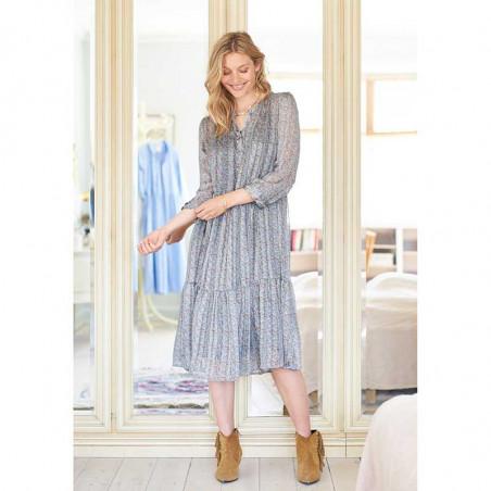 Lollys Laundry Kjole, Naja, Dusty Blue på model