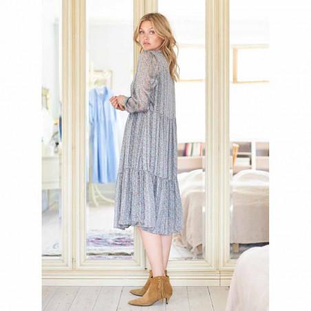 Lollys Laundry Kjole, Naja, Dusty Blue - fra siden