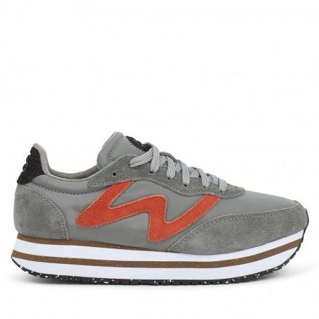 Woden Sneakers, Olivia Pleateau II, Autumn Grey, Woden sko, Woden