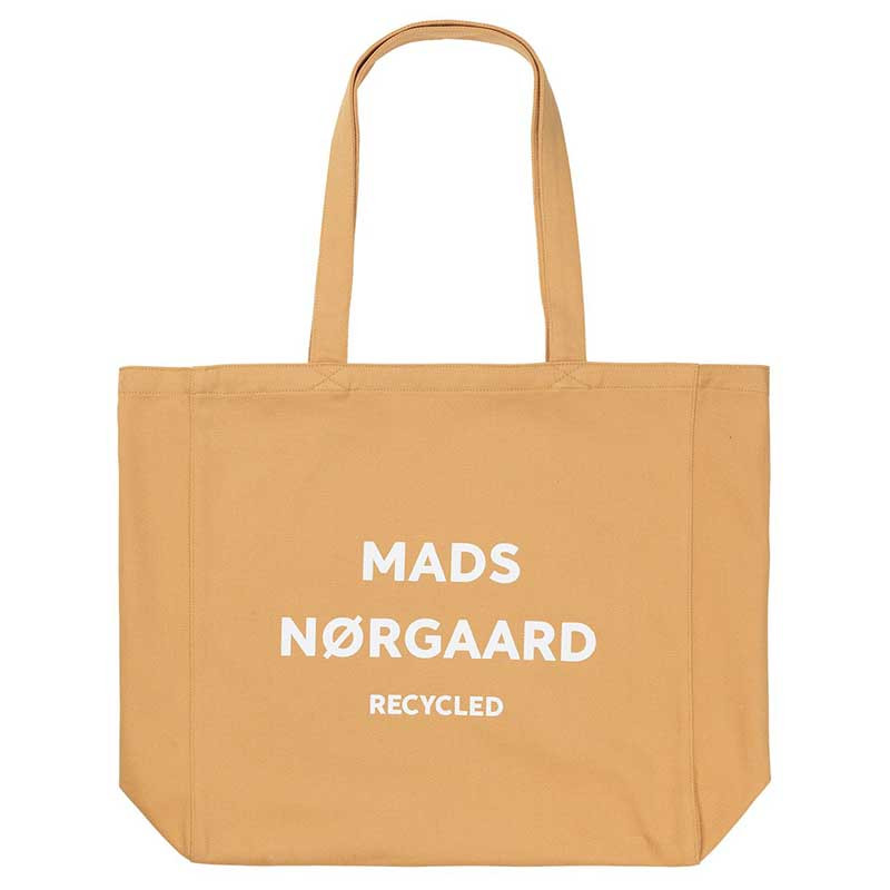 Mads Nørgaard Net, Athene Recycled, Tan/White, mulepose, Mads Nørgaard net, mulepose med tryk
