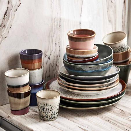 HK Living Tallerken, Ceramic 70's Sæt af 2, Mist HK Living Tallerkener stabler