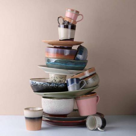 HK Living pasta skåle, Ceramic 70's Sæt af 2, Galaxy - stablet på bord