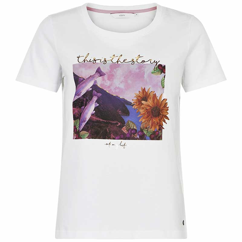 Nümph T-shirt, Nubryce, B. White Fish Numph T-shirt med print