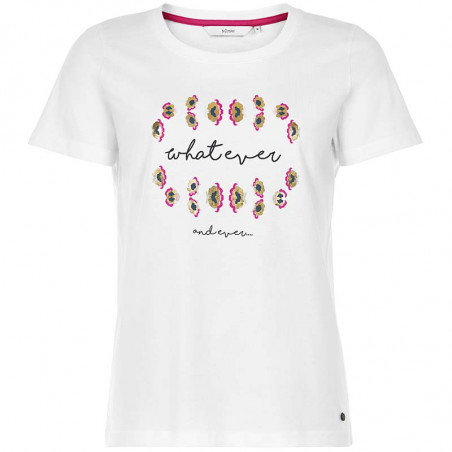 Nümph T-shirt, Nubryce, B. White What Ever Numph T-shirt med print