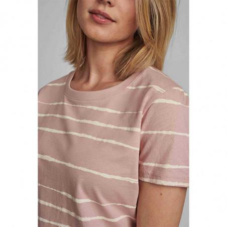 Nümph T-shirt, Nubryce, Pale Mauve Numph T-shirt med print på model detalje