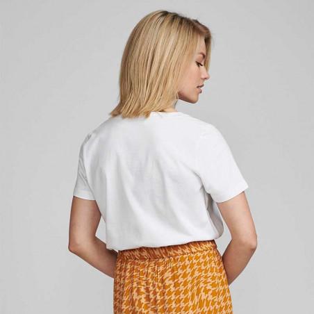 Nümph T-shirt, Nubryce, B. White What Ever Numph T-shirt med print bagfra