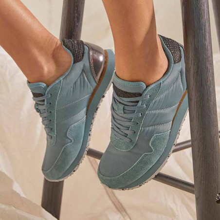 Woden Sneakers dame, Nora III, North Atlantic woden sko dame woden nora på model