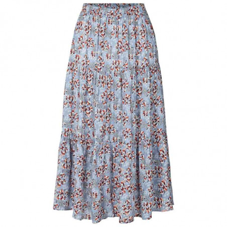 Lollys Laundry Nederdel, Morning, Flower Print Blue