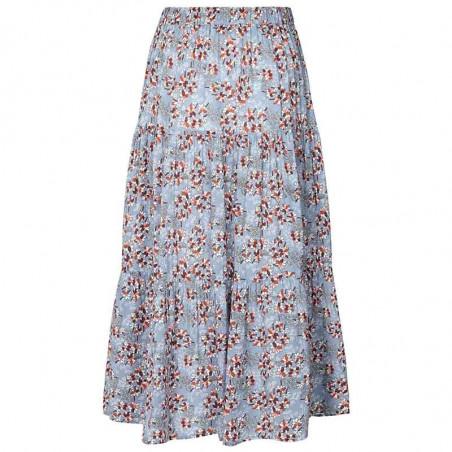 Lollys Laundry Nederdel, Morning, Flower Print Blue bagside