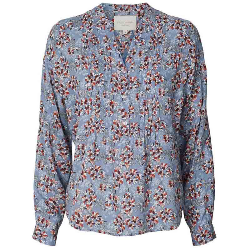 Lollys Laundry Bluse, Helena, Flower Print Blue