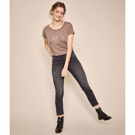 Mos Mosh Jeans, Ava, Grey, mos mosh bukser - model