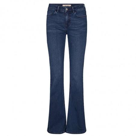 Mos Mosh Jeans, Alli Core Flare, Blue Denim Mos Mosh bukser