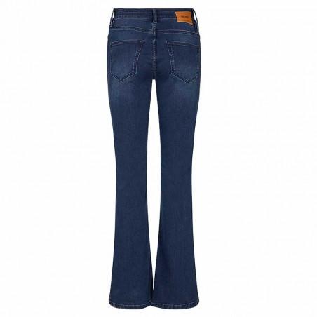 Mos Mosh Jeans, Alli Core Flare, Blue Denim Mos Mosh bukser bagside