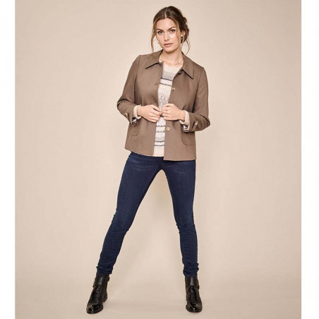 Mos Mosh Jeans, Alli Core, Blue Denim Mos Mosh bukser model