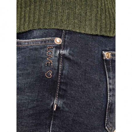 Mos Mosh Jeans, Bradford Heritage, Blue Regular Mos Mosh bukser detalje