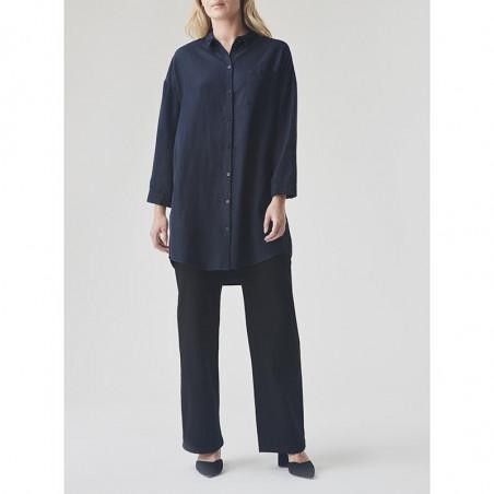 Modström Kjole, Evelyn, Navy Sky modstrøm tøj modstrøm kjole Modström skjortekjole på model