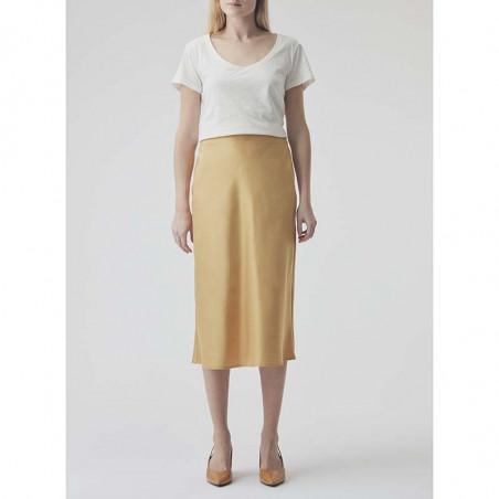 Modström Nederdel, Rylee, Misty Yellow modstrøm nederdel på model