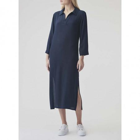Modström Kjole, Connor, Navy Sky modstrøm kjole kaftankjole på model