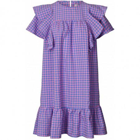 Lollys Laundry Kjole, Lizzie, Dark Blue sommerkjole kjole med flæser
