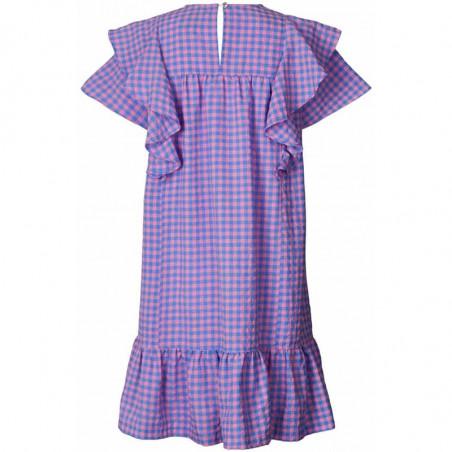 Lollys Laundry Kjole, Lizzie, Dark Blue sommerkjole kjole med flæser bagside
