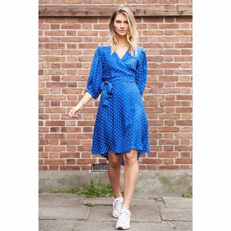 Lollys Laundry Kjole, April, Neon Blue model front