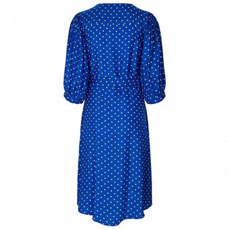 Lollys Laundry Kjole, April, Neon Blue bagside