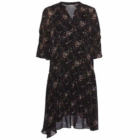 PBO Kjole, Plutus, Black Flower pbo tøj
