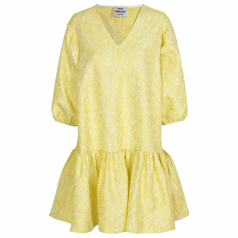 Mads nørgaard kjole, destilla, yellow flower fra mads nørgaard fra superlove